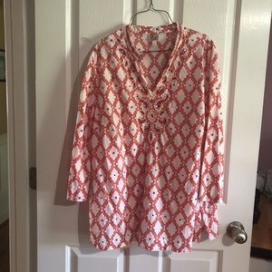 JM collection blouse size XL